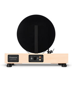 Gramovox Floating Record Vertical Turntable Maple - Rear