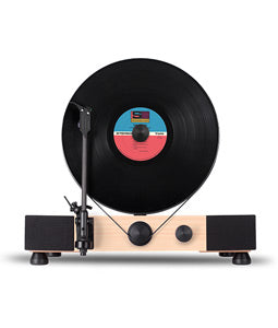 Gramovox Floating Record Vertical Turntable Maple - Front