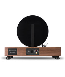 Gramovox Floating Record Vertical Turntable Walnut - Rear