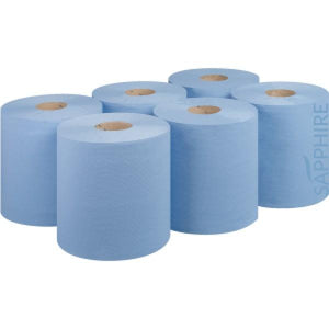 Blue Centrefeed Roll 2ply 150m x 6