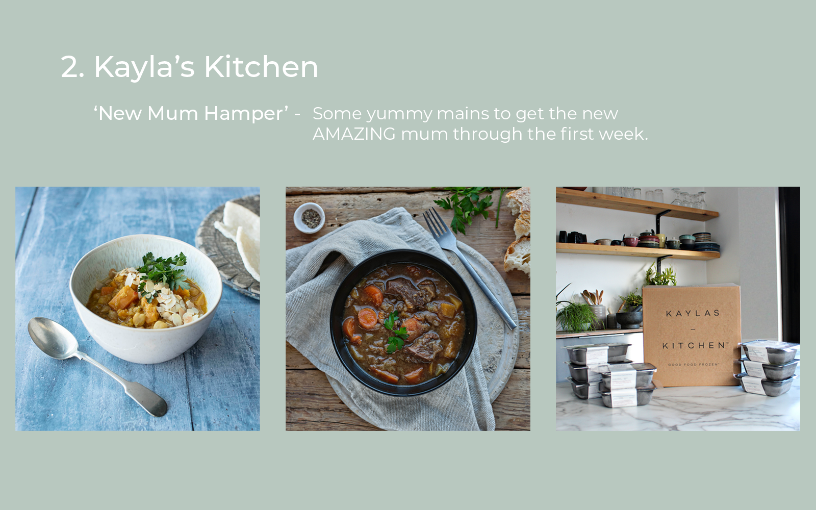 Kaylas Kitchen Gifts for New Mums Lulu and Belle