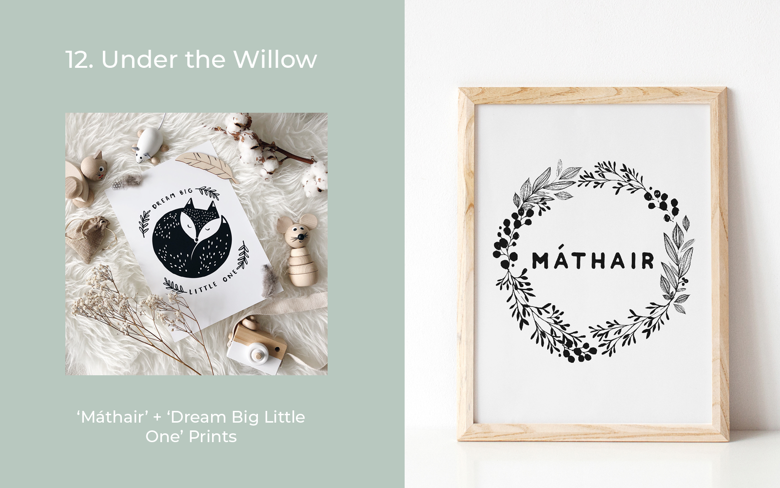 Under the Willow Print Co Gifts for New Mums Lulu and belle