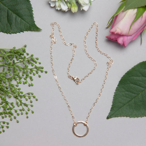 gold karma necklace by Lulu + Belle