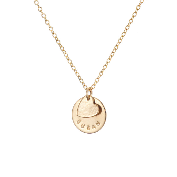 gold new mum necklace with babys name