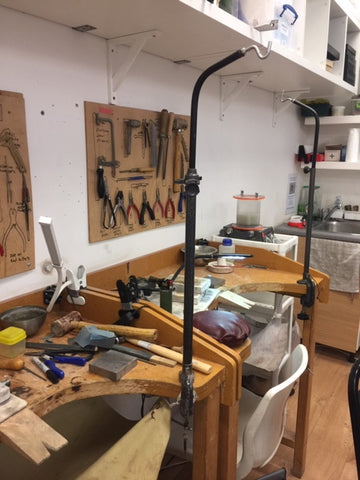lulu and belle jewellers bench at the london jewellery school