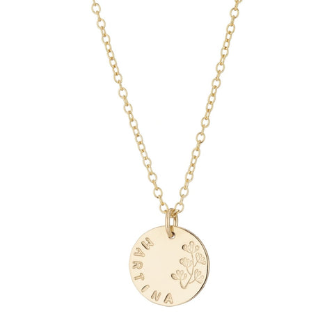 Flourish gold name necklace lulu and belle
