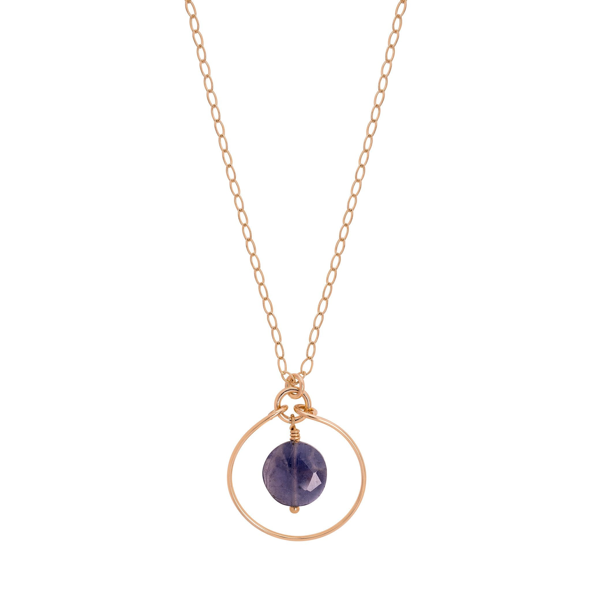 pendant crystal necklace vaults iolite