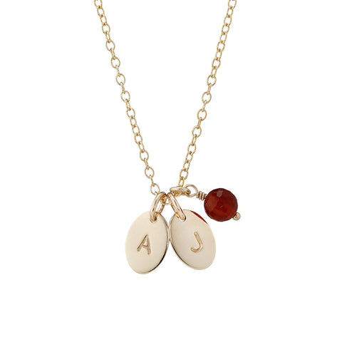 oval initial necklace lulu and belle