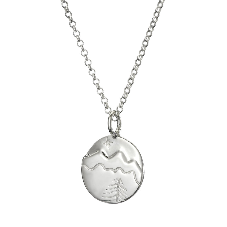 mountains necklace in silver by Lulu + Belle