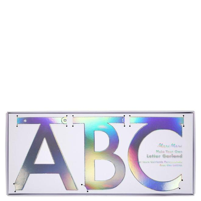 holographic create your own letter garland kit