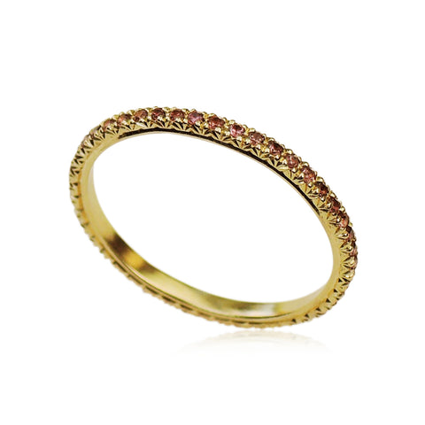 French Facet Eternity Ring