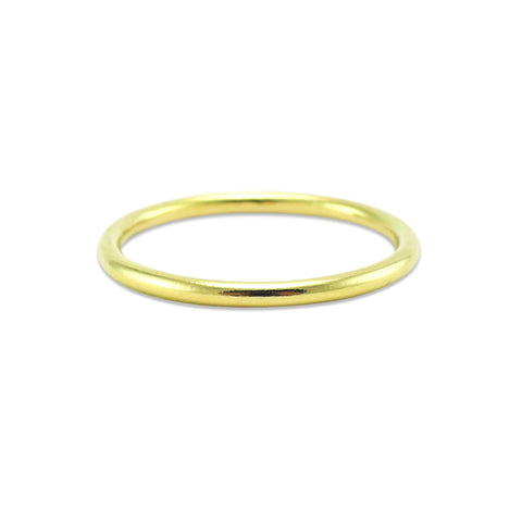 Solid Gold Round Band