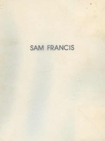 Sam Francis Monotype Prints