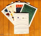 Sam Francis 5 Note Card Set + envelopes