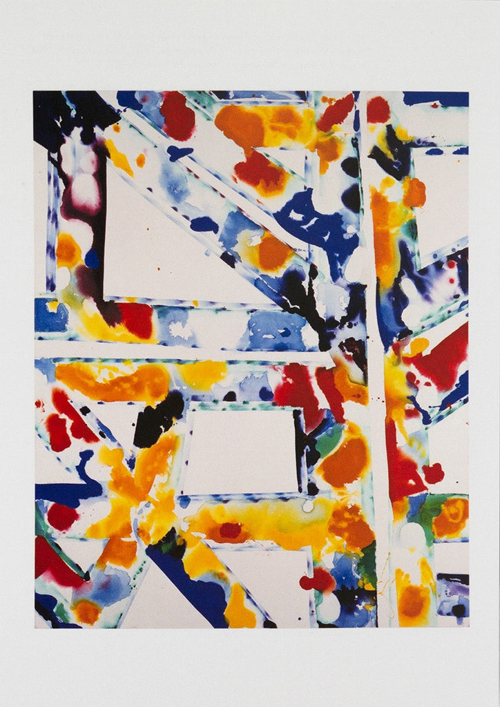"Sam Francis postcard: ""Untitled """