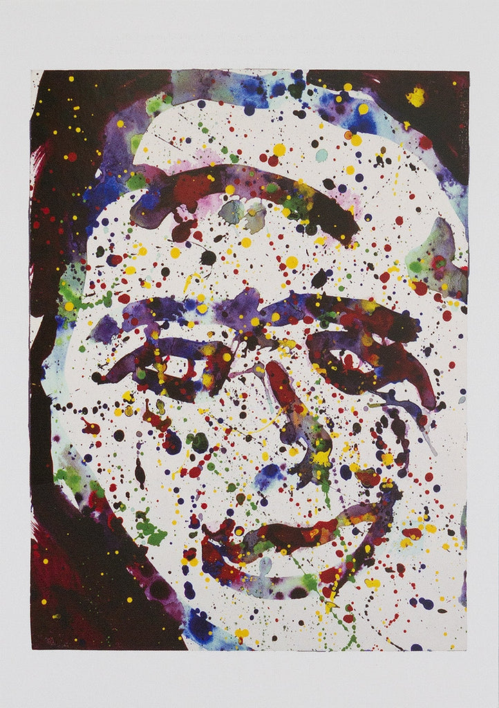 "Sam Francis postcard: ""Untitled [Self-Portait]"""