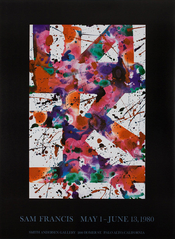 Sam Francis exhibition poster: Smith Andersen Gallery