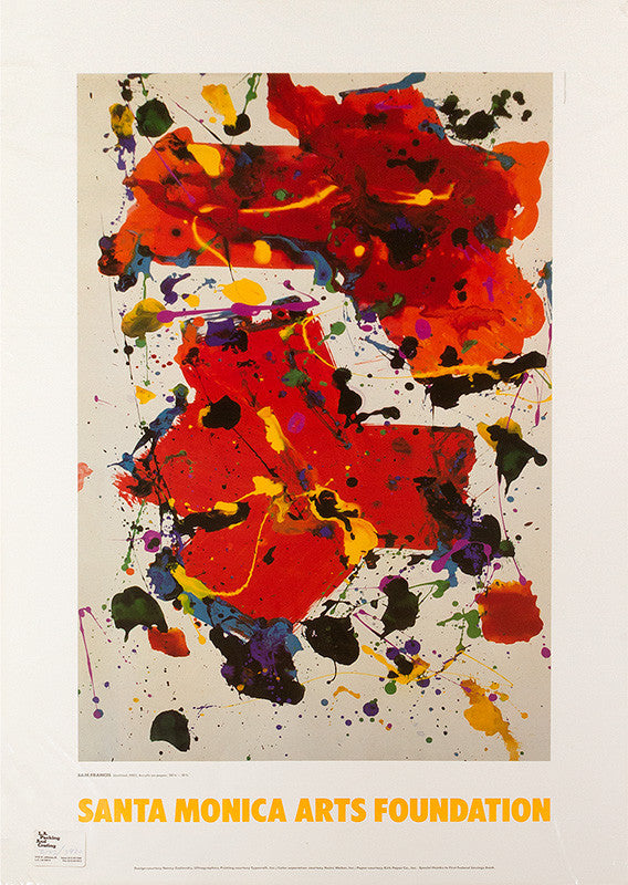 Sam Francis poster: Santa Monica Arts Foundation