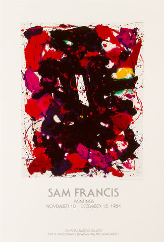 Sam Francis exhibition poster: Cantor/Lemberg Gallery 1984