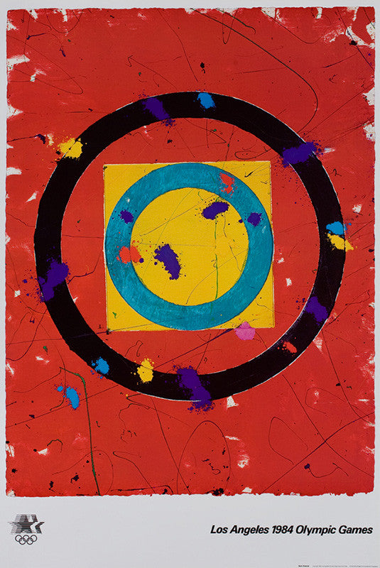 Sam Francis poster: 1984 Los Angeles Olympic Games
