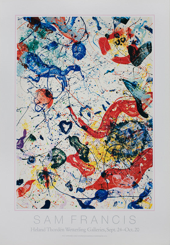 Sam Francis poster: Heland Thordén Wetterling Galleries, Stockholm