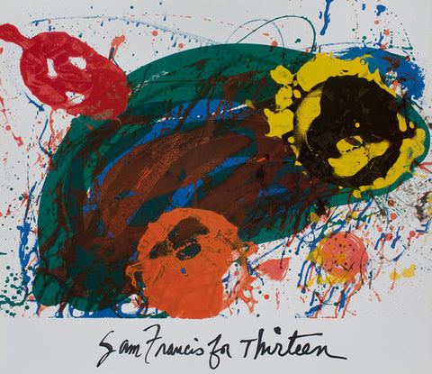 "Sam Francis poster: ""Sam Francis For Thirteen"""