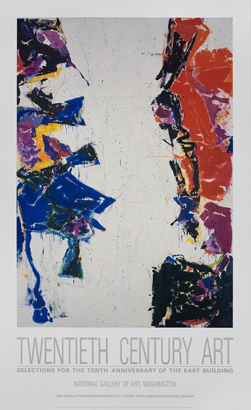 "Sam Francis poster: ""National Gallery of Art, Washington, 'Twentieth Century Art: Selections for the Tenth Anniversary of the East Building'. 1988"""