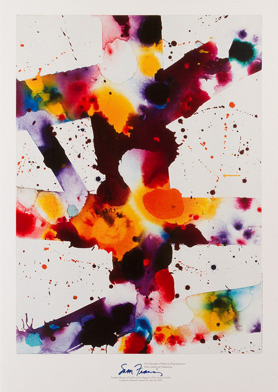 Sam Francis exhibition poster: Pasadena Museum of California Art & Crocker Art Museum