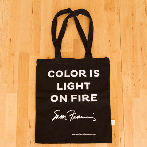 Color is Light on Fire Tote Bag