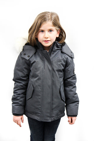 Emma Jr Winter Jacket in Grey for kids