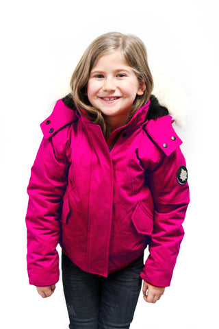 Emma Jr Winter Jacket in Fuchsia for kids