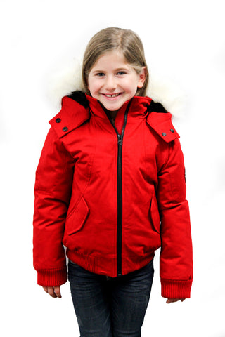 Gaby Jr Winter Jacket  in Red for kids