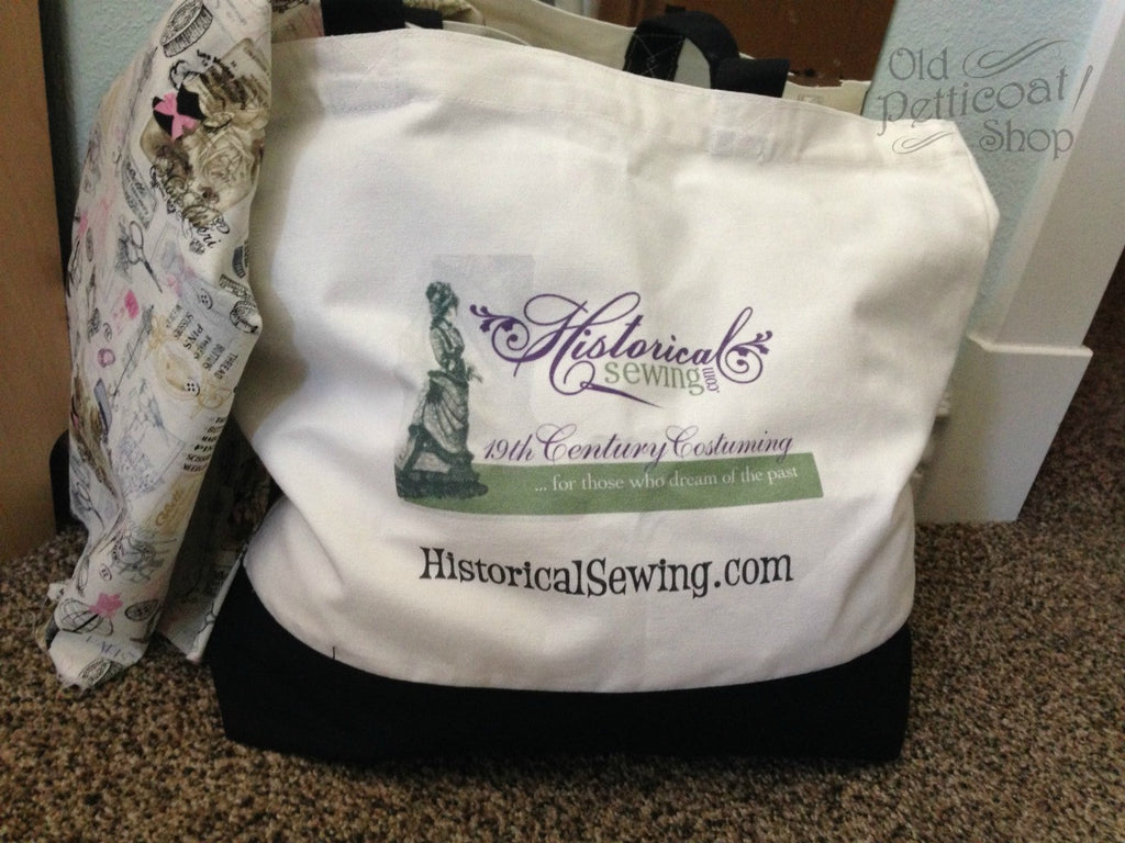Historical Sewing Canvas Tote Bag