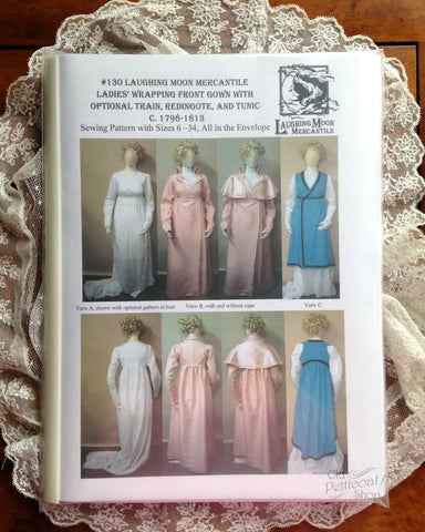 Laughing Moon #130 Ladies' Wrapping Front Gown Pattern
