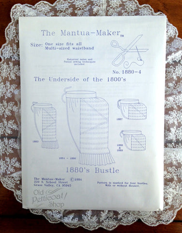 Mantua Maker 1880's Bustle Pattern