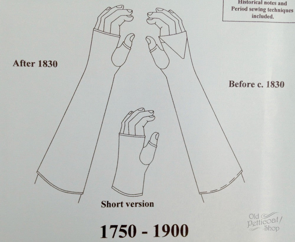 Mantua Maker 1750-1900 Fingerless Mittens Pattern – Old Petticoat Shop