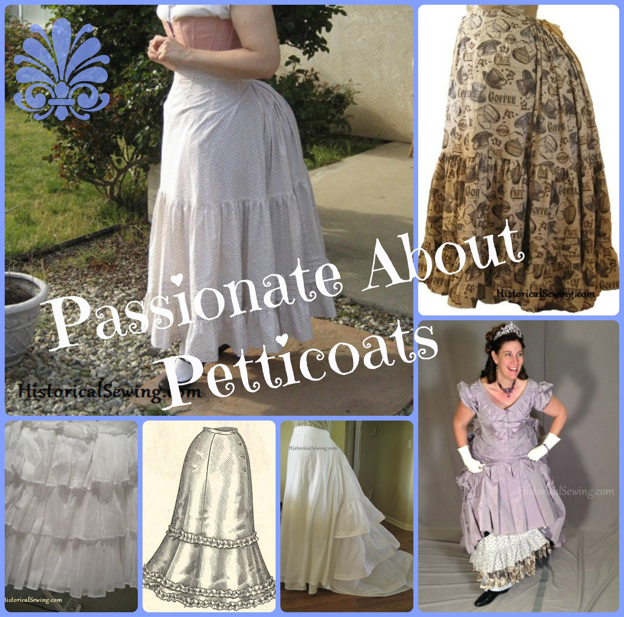 Victorian Sewing Patterns- Dress, Blouse, Hat, Coat, Mens Online Class: Petticoats $25.00 AT vintagedancer.com