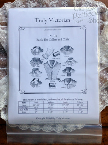Truly Victorian TV104 Late Victorian Collars and Cuffs Pattern