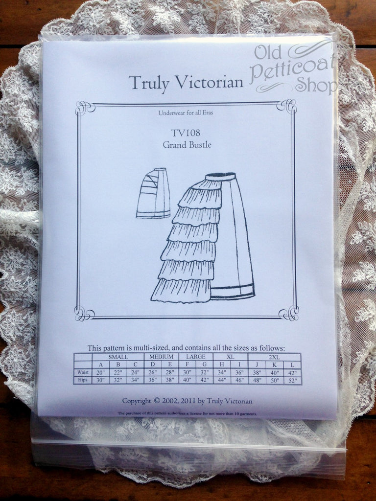 Truly Victorian TV108 Grand Bustle Pattern