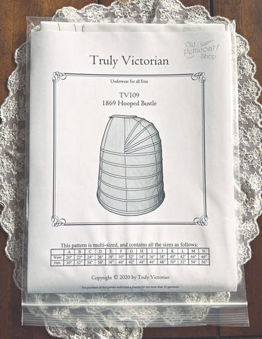 Truly Victorian TV109 1869 Hooped Bustle Pattern
