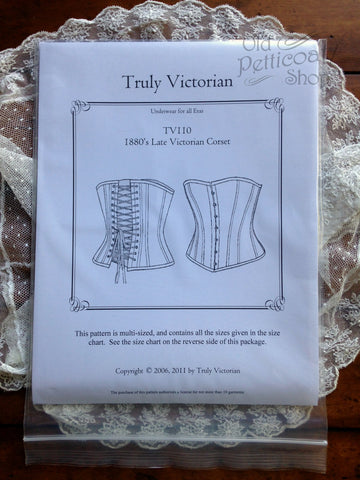 Truly Victorian TV110 1880s Late Victorian Corset Pattern