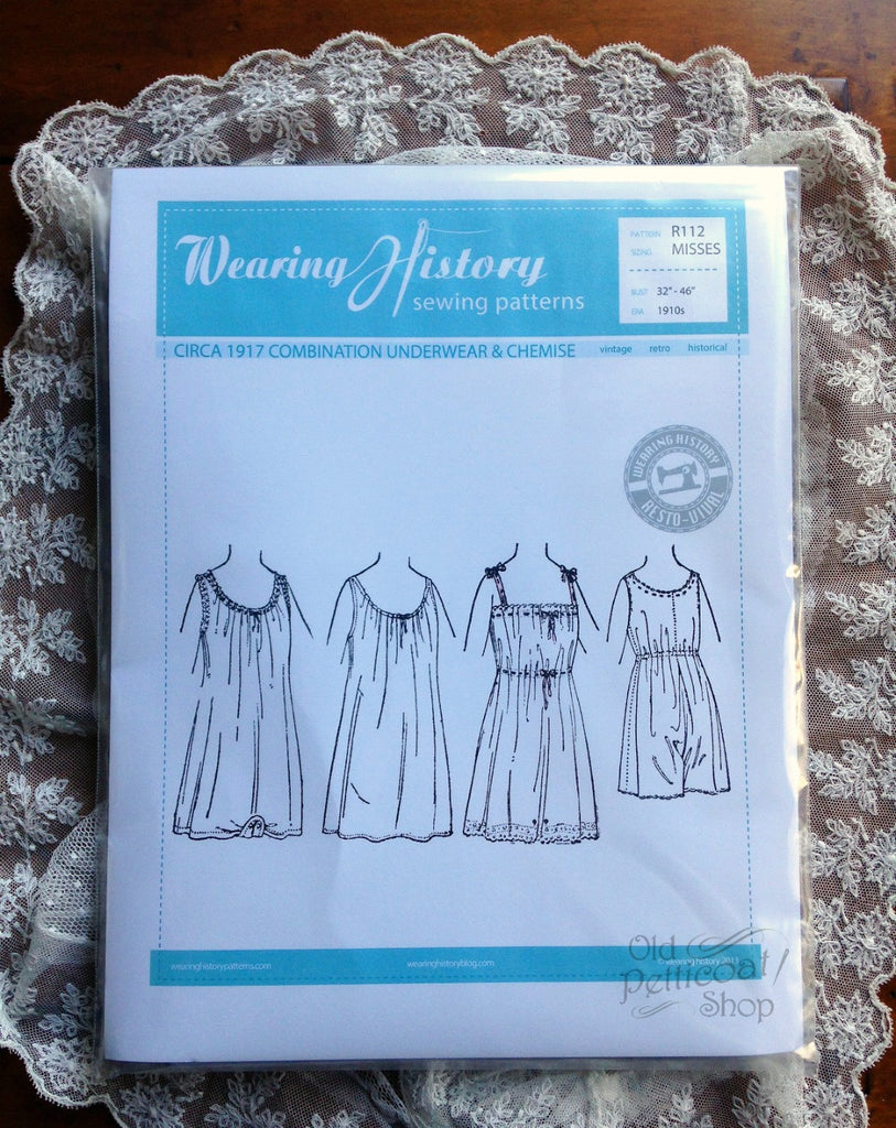 Wearing History 1917 Combination Underwear & Chemise Pattern