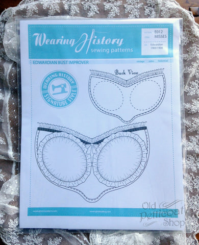 Wearing History #102 Edwardian Bust Improver Pattern