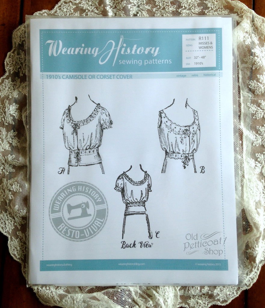 Wearing History 1910s Camisole or Corset Cover Pattern