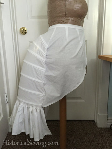 Jen's De-Stash: Lobster Tail Bustle NEW or Custom - white cotton