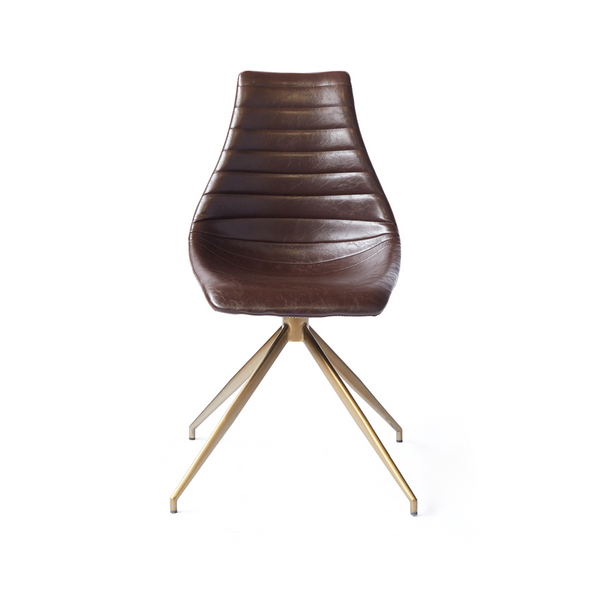 Ethan Dining Chair - Glossy Brown
