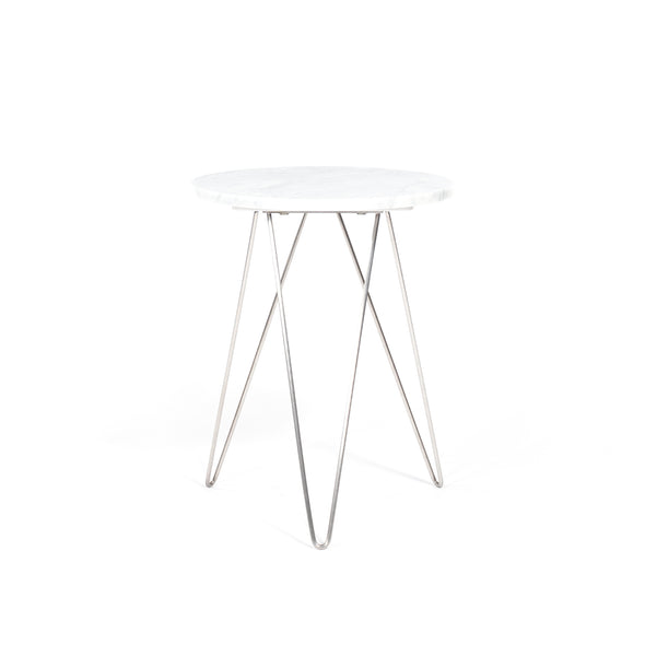 Solo Accent Table - White Marble