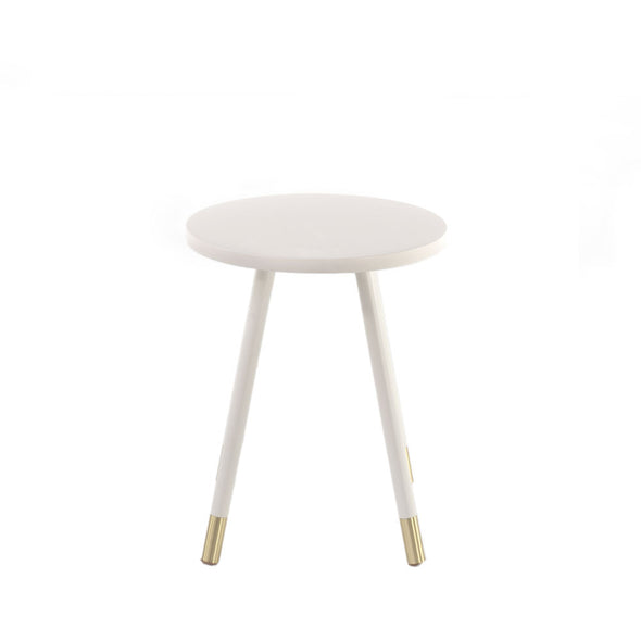 Ridley Accent Table - Coconut Milk