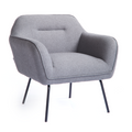 Runa Lounge Chair - Light Grey