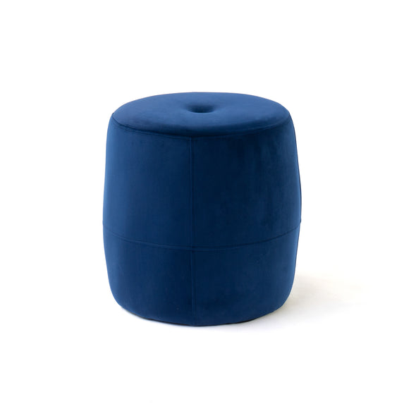 Galya Foot Stool - Velour Midnight
